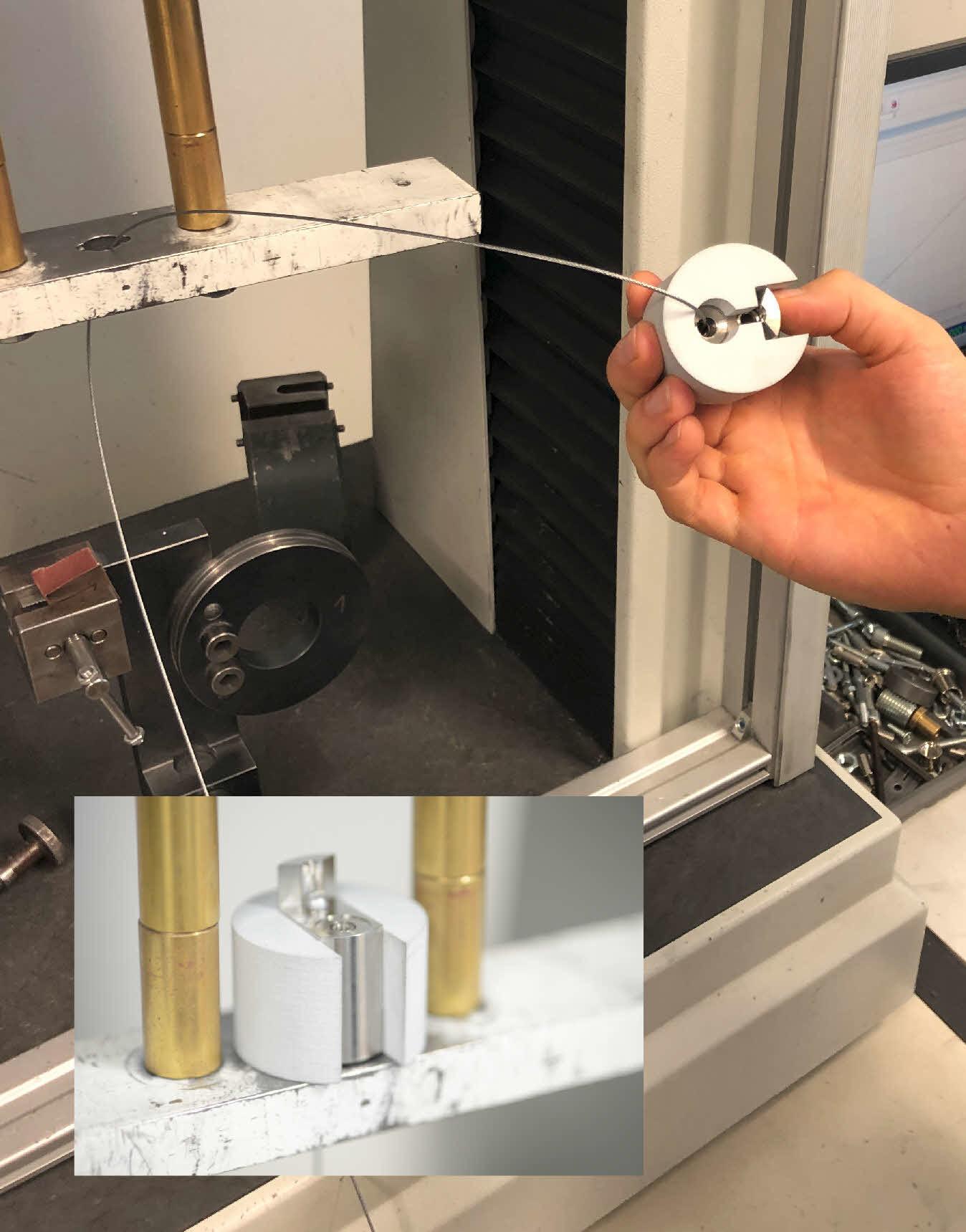 Vorrichtung in der QS Zugprüfung mit Druckbleastung >100kg